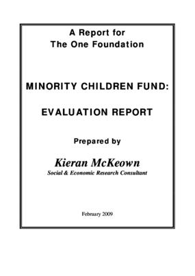 Minority Children Fund: Evaluation Report