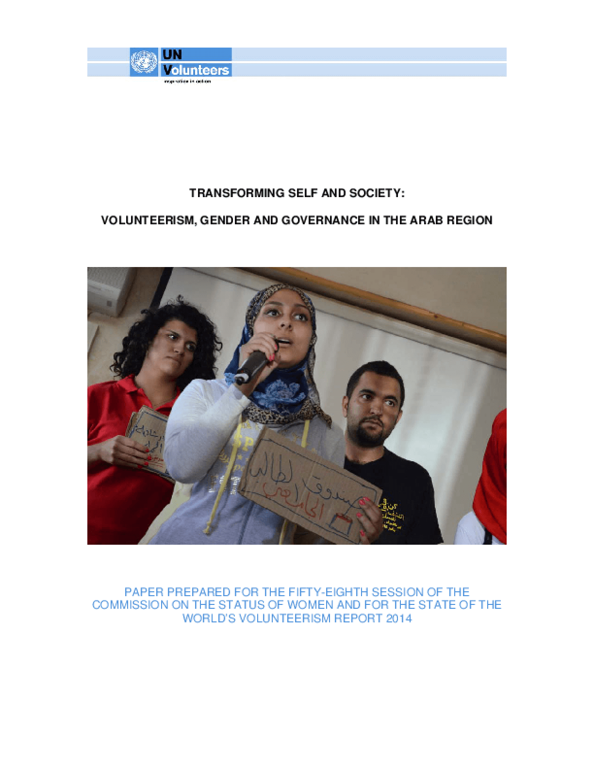 Transforming Self and Society: Volunteerism, Gender and Governance in the Arab Region