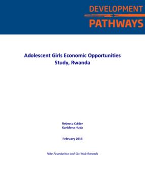 Adolescent Girls Economic Opportunities Study in Rwanda