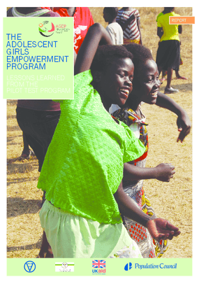 The Adolescent Girls Empowerment Program: Lessons learned from the pilot test program