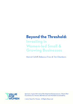Beyond the Threshold: Investing in Women-led Small and Growing Businesses