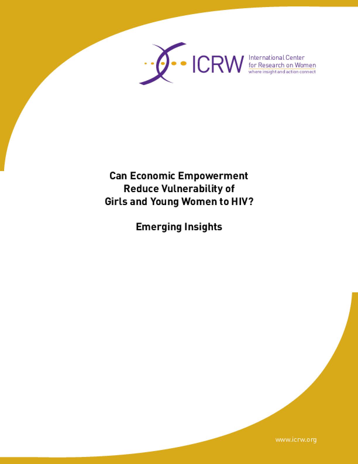 IssueLab: International Center for Research on Women (ICRW)