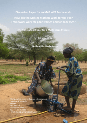 Discussion Paper for an M4P WEE Framework: How can the Making Markets Work for the Poor Framework Work for Poor Women and for Poor Men? (The Conceptual Paper for a Multi-Stage Process)