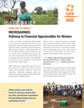 From Aid to Impact: Microsavings: Pathway to Financial Opportunities for Women
