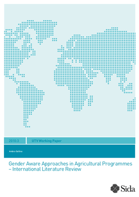 Gender Aware Approaches in Agricultural Programmes: International Literature Review