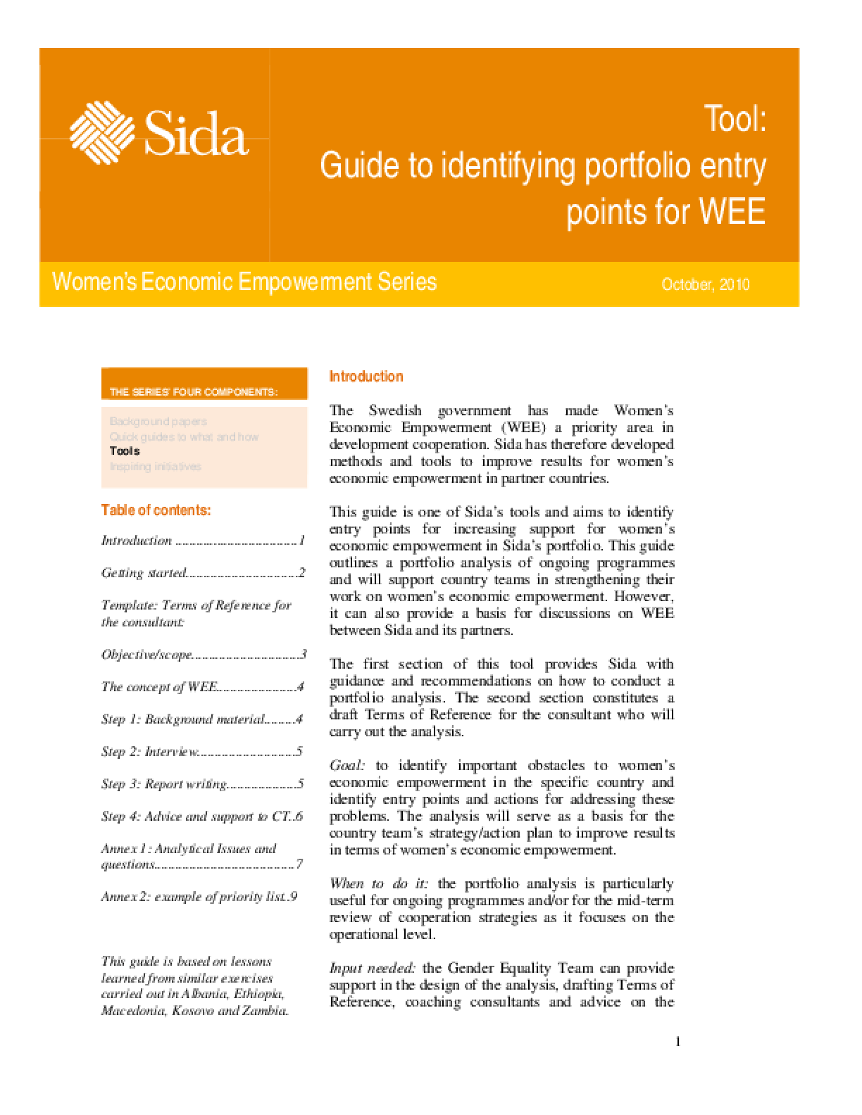 Guide to identifying portfolio entry points for WEE