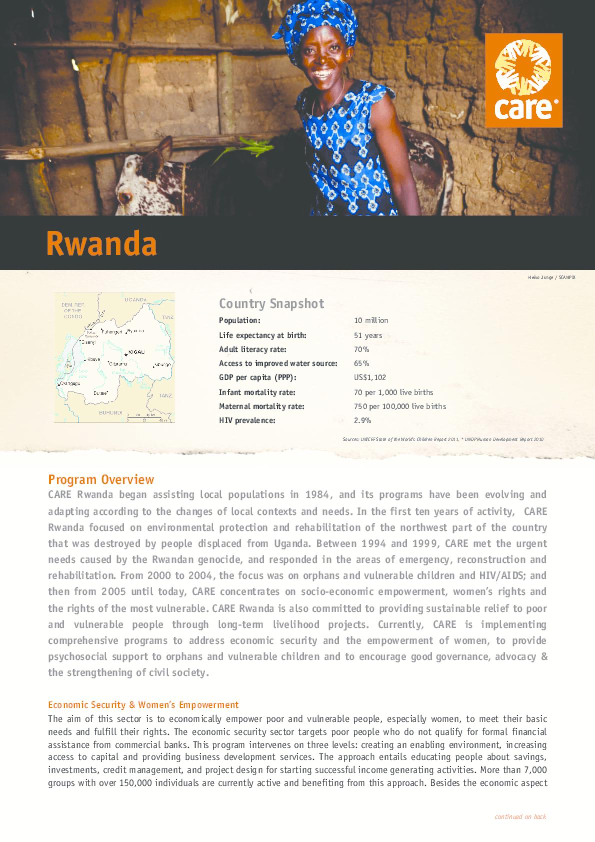 Rwanda Country Snapshot