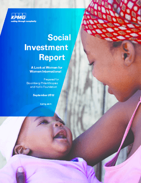 Social Investment Report: A Look at Women for Women International