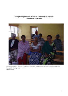 Strengthening Women's Access to Land into IFAD projects: The Rwanda Experience