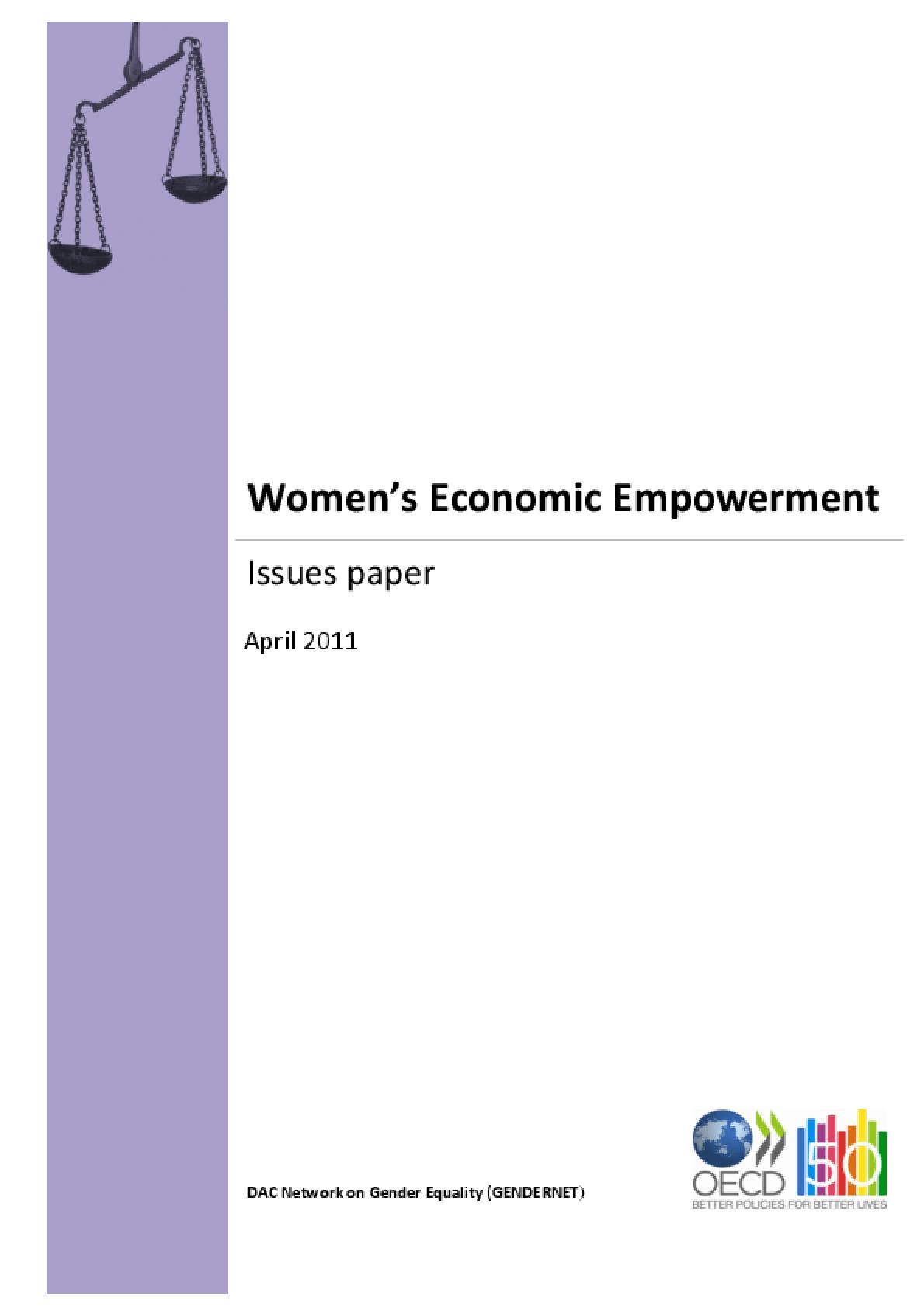 Women's Economic Empowerment: Issues Paper