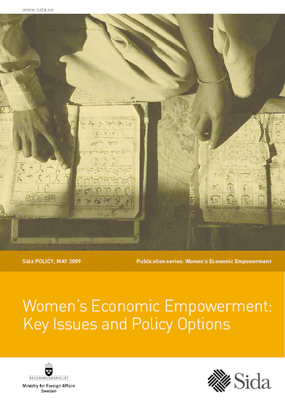 Women's Economic Empowerment: Key Issues and Policy Options