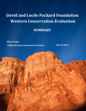 David and Lucile Packard Foundation Western Conservation Evaluation Summary