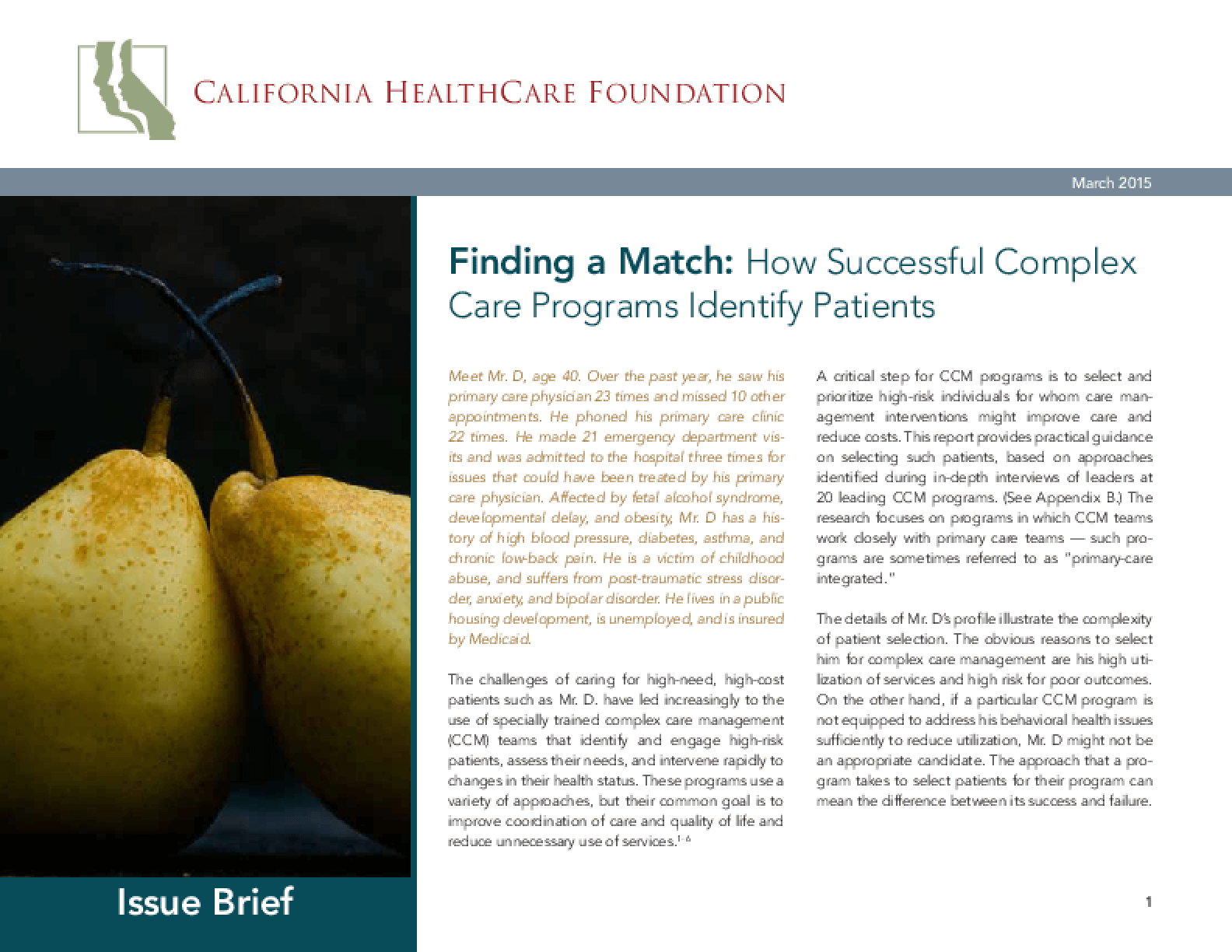 Finding A Match: How Successful Complex Care Programs Identify Patients