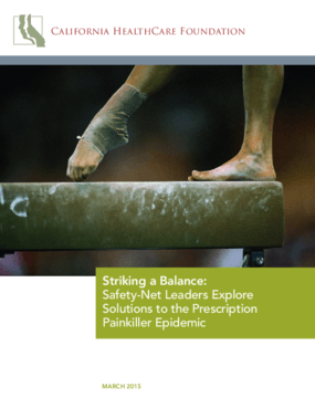 Striking a Balance: Safety-Net Leaders Explore Solutions to the Prescription Painkiller Epidemic