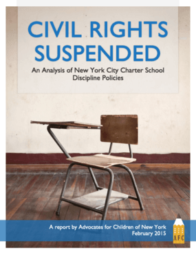 Civil Rights Suspended: An Analysis of New York City Charter School Discipline Policies