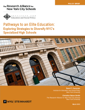 Pathways to an Elite Education: Exploring Strategies to Diversify NYC's Specialized High Schools