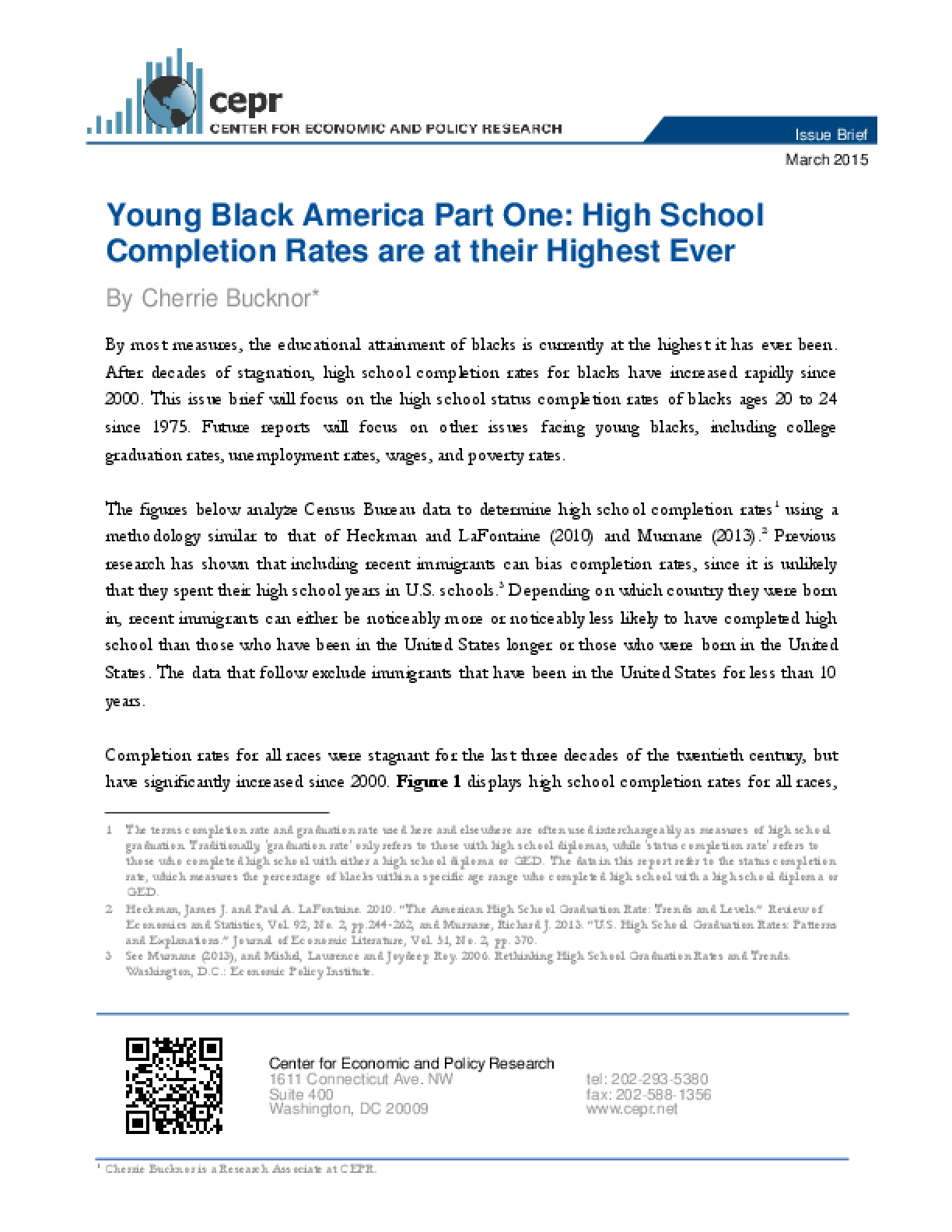 Young Black America Part One: High School Completion Rates are at their Highest Ever