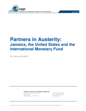 Partners in Austerity: Jamaica, the United States and the International Monetary Fund