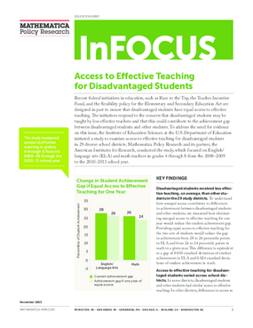 Access to Effective Teaching for Disadvantaged Students