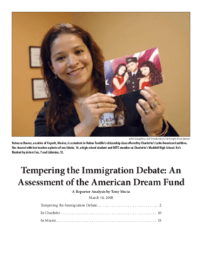 Tempering the Immigration Debate: An Assessment of the American Dream Fund