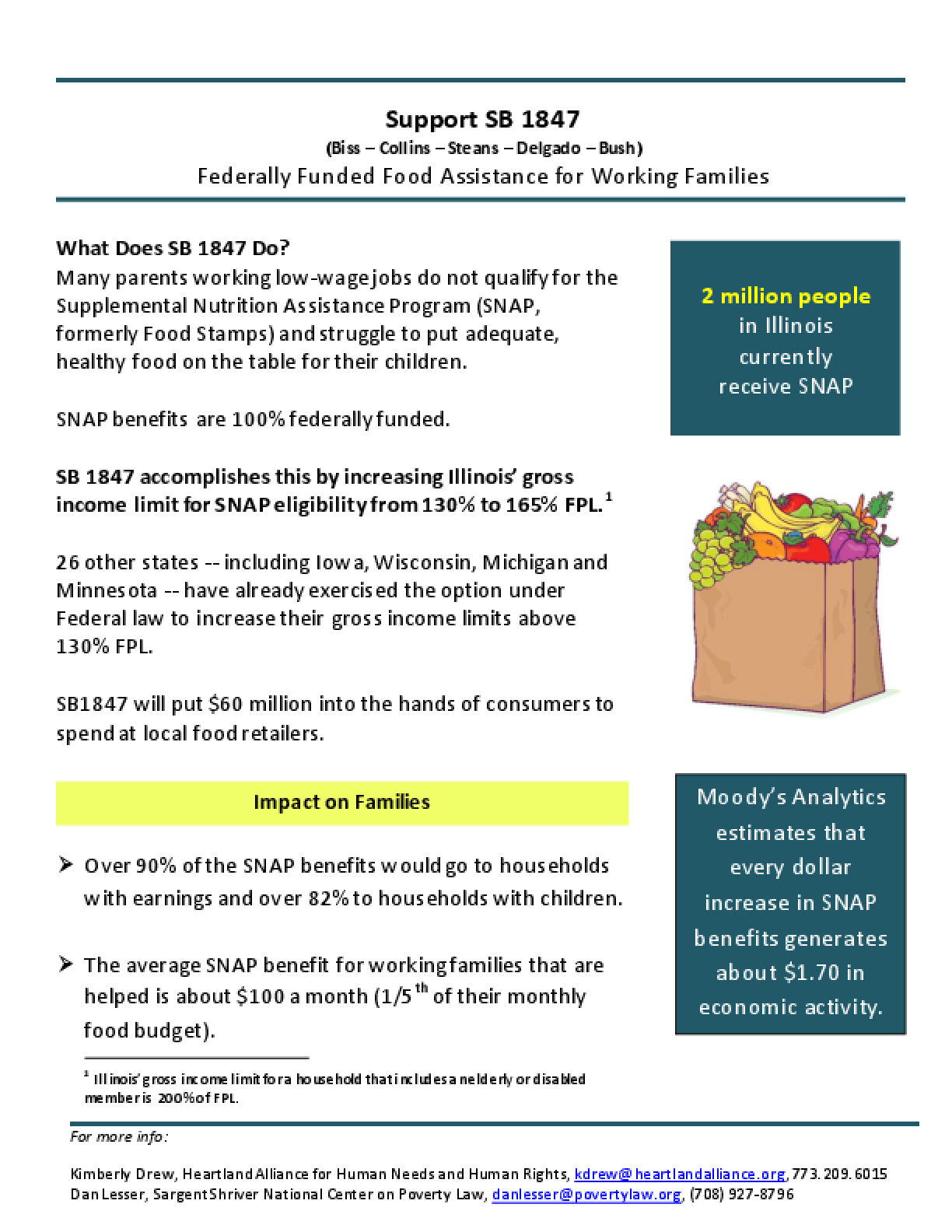 Support SB 1847 Fact Sheet