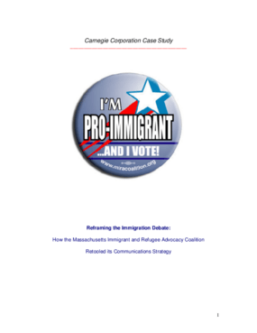 Reframing the Immigration Debate: How the Massachusetts Immigrant and Refugee Advocacy Coalition Retooled its Communications Strategy