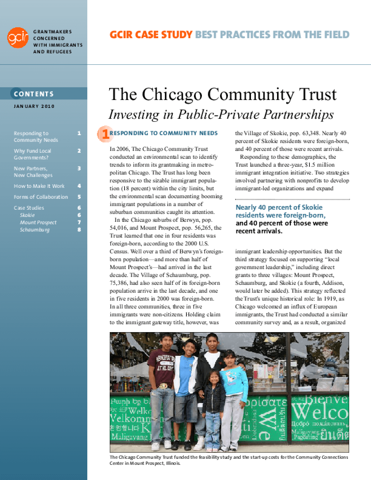 The Chicago Community Trust: Investing in Public-Private Partnerships