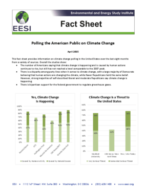 Fact Sheet: Polling the American Public on Climate Change (2015)