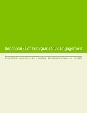 Benchmarks of Immigration Civic Engagement