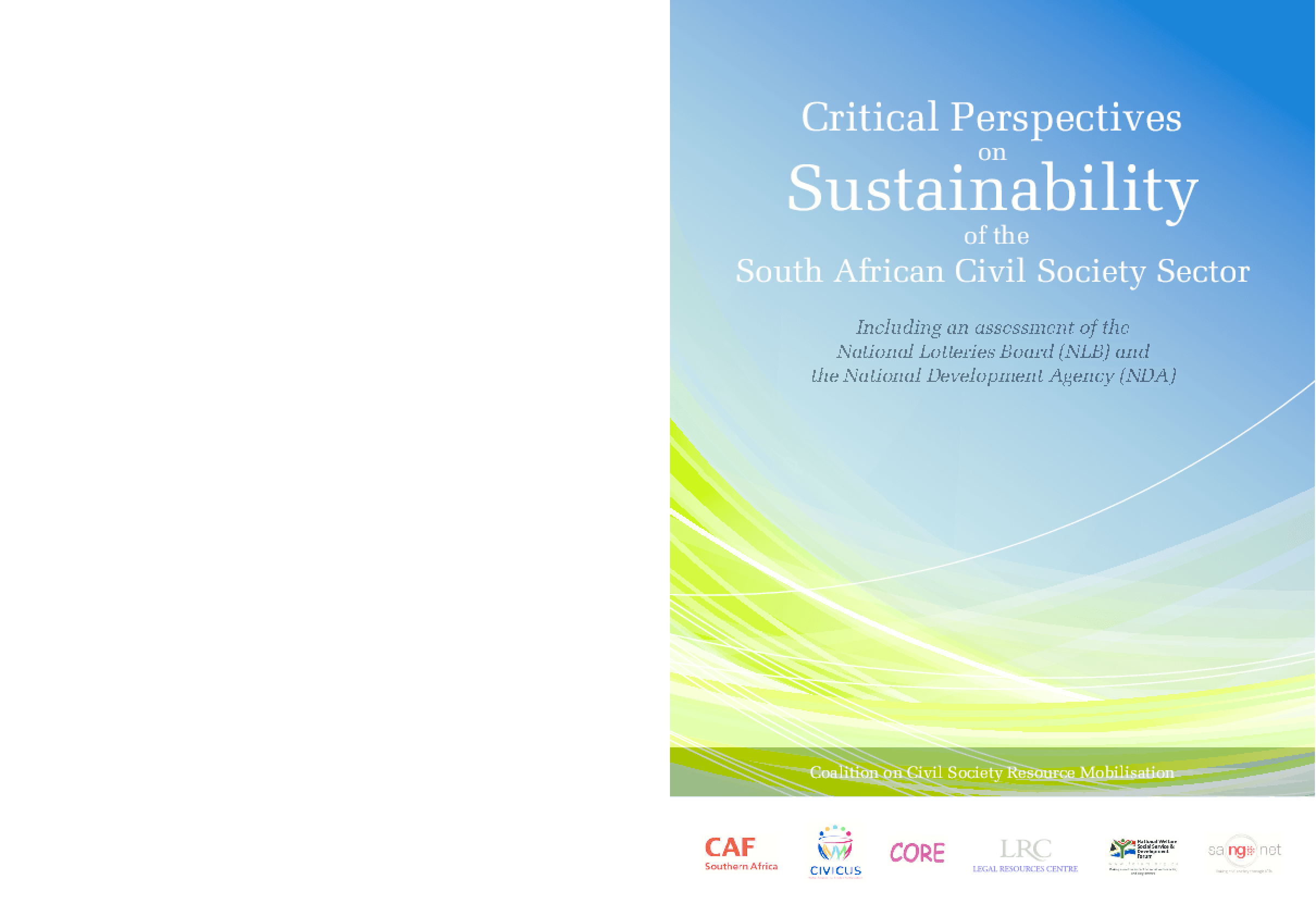 Critical Perspectives Sustainability of the on South African Civil Society Sector