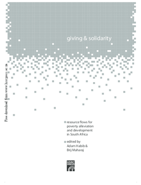 Giving and solidarity: resource flows for poverty alleviation and development in South Africa