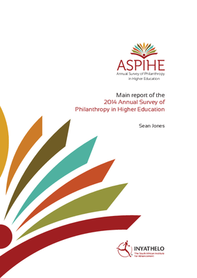 2014 Annual Survey of Philanthropy in Higher Education (ASPIHE) in South Africa