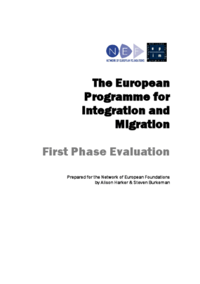 The European Programme for Integration and Migration Synthesis Report: First Phase Evaluation