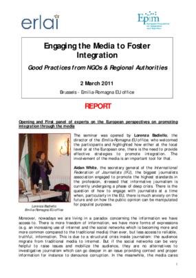 Engaging the Media to Foster Integration: Good Practices from NGOs and Regional Authorities
