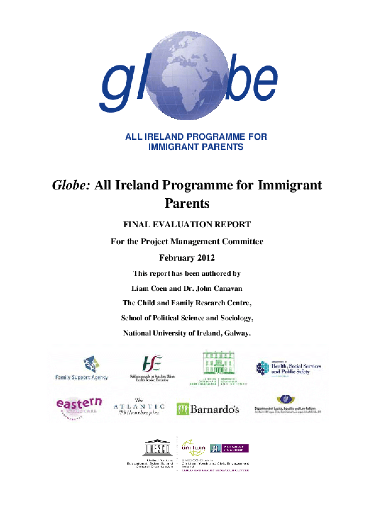 Globe: All Ireland Programme for Immigrant Parents: Final Evaluation Report
