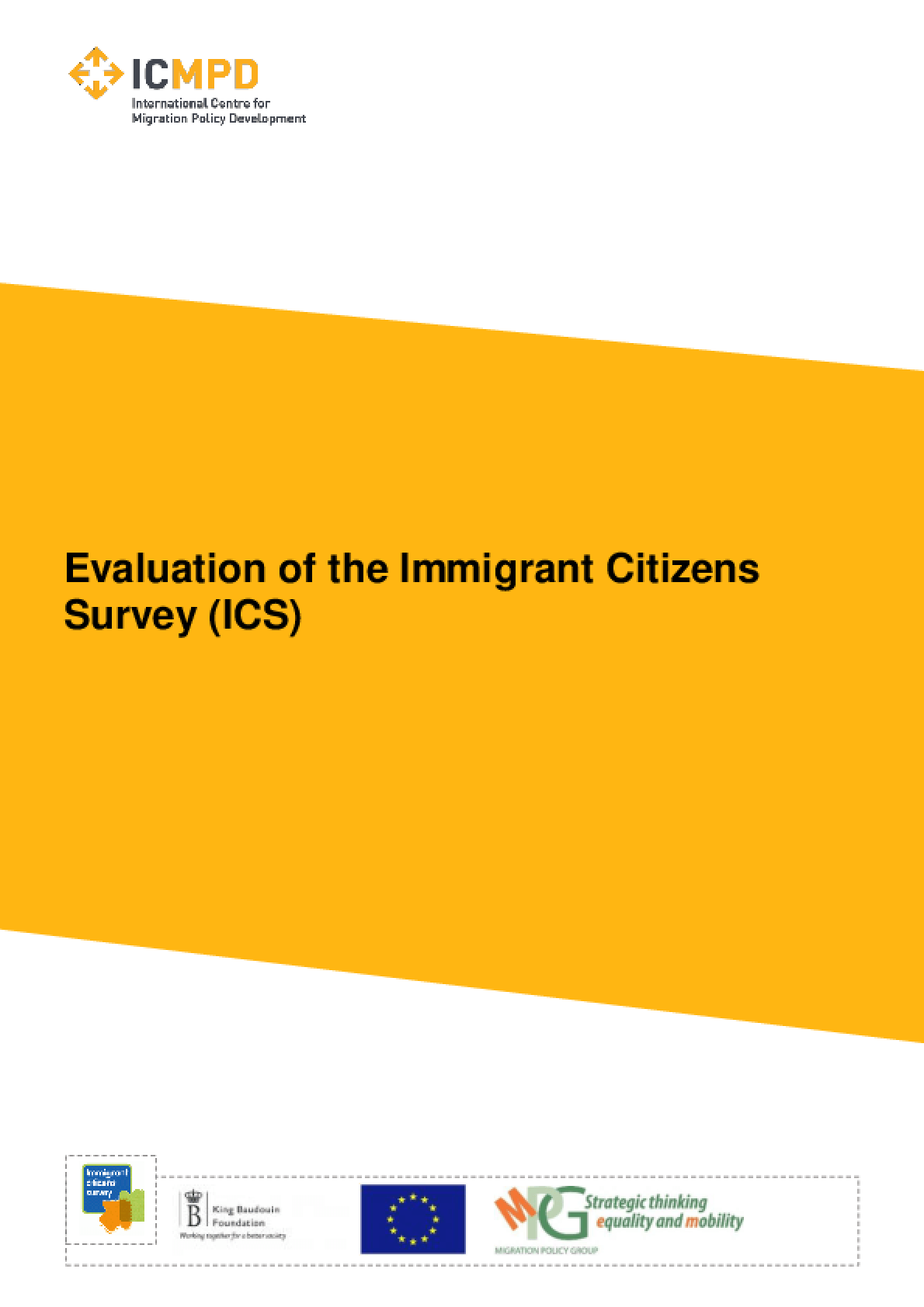 Evaluation of the Immigrant Citizens Survey (ICS)