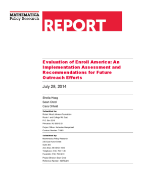 Evaluation of Enroll America: An Implementation Assessment and Recommendations for Future Outreach Efforts