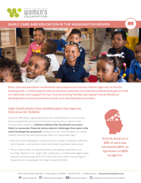 Early Care and Education in the Washington Region