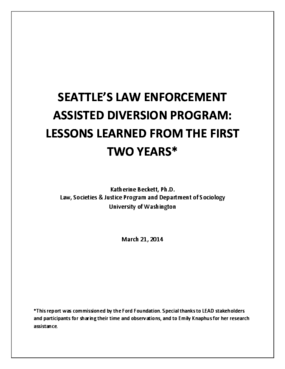 Seattle's Law Enforcement Assisted Diversion Program: Lessons Learned From the First Two Years