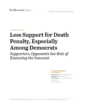 Less Support for the Death Penalty, Especially Among Democrats