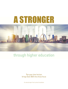 A Stronger Nation: through higher education