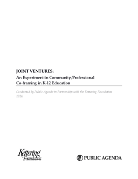 Joint Ventures: An Experiment in Community/Professional Co-framing in K-12 Education