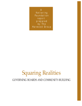 Squaring Realities: Governing Boards and Community-Building
