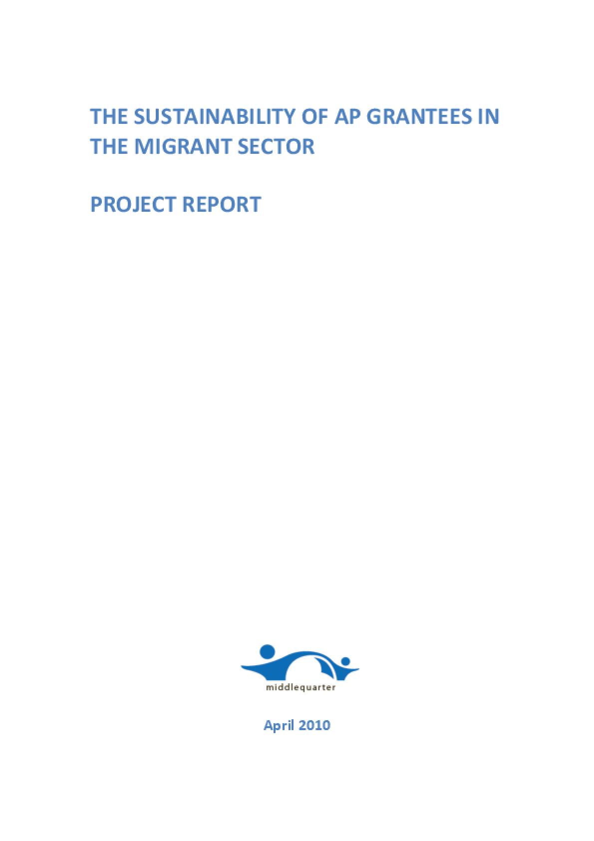 The Sustainability of Atlantic Philanthropies Grantees in the Migrant Sector