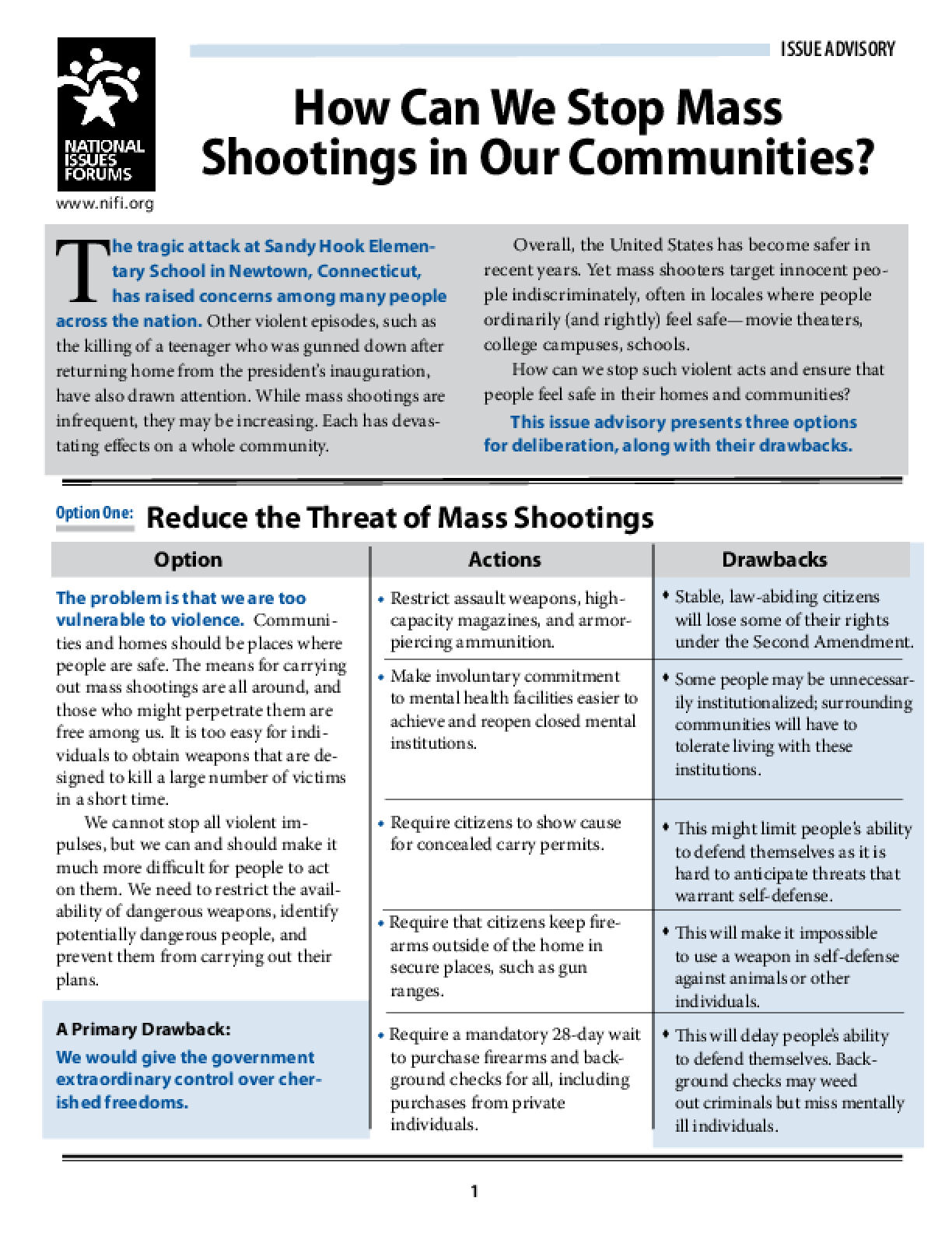How Can We Stop Mass Shootings in Our Communities?