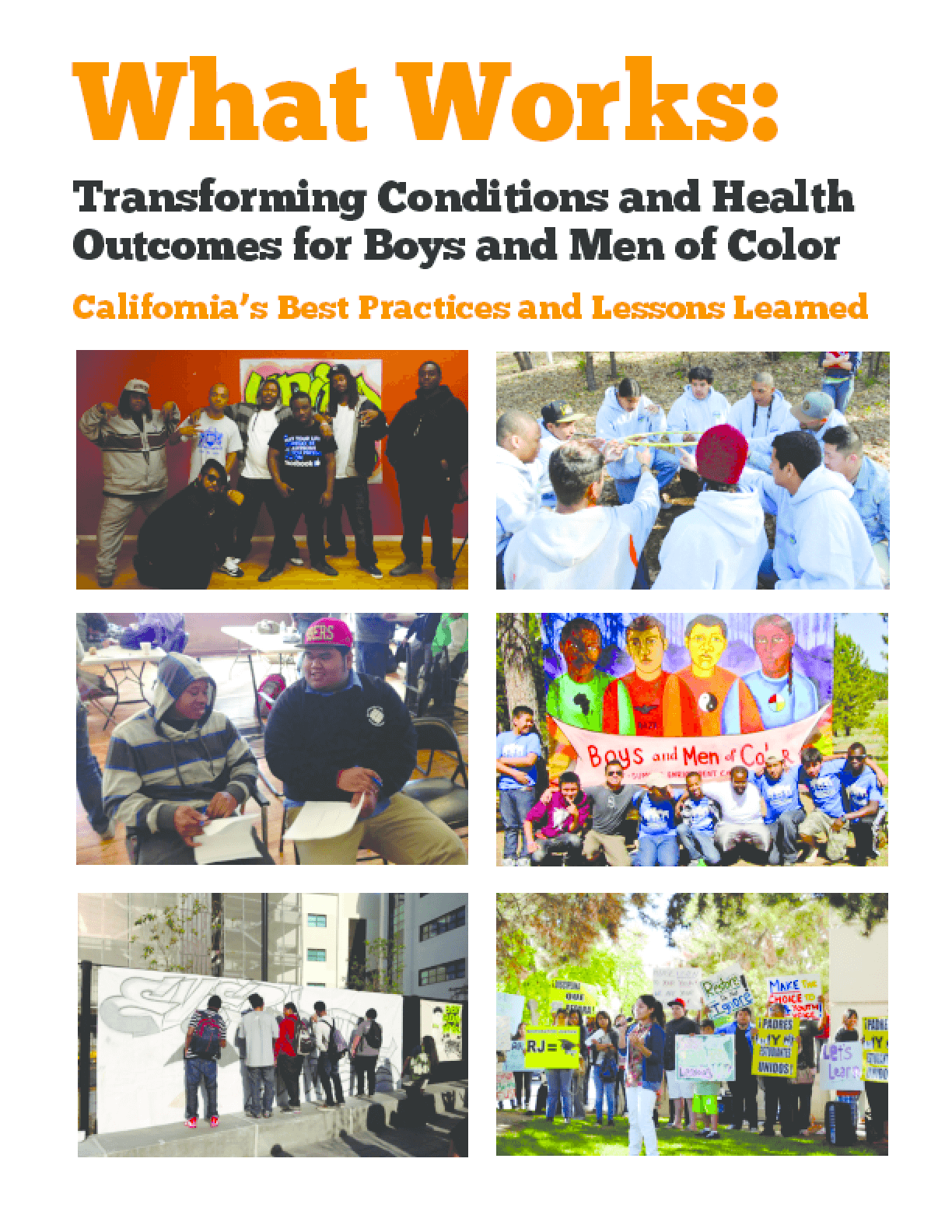 What Works: Transforming Conditions and Health Outcomes for Boys and Men of Color