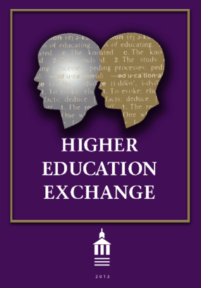 Higher Education Exchange: 2013
