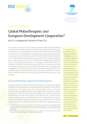 Global Philanthropists and European Development Cooperation
