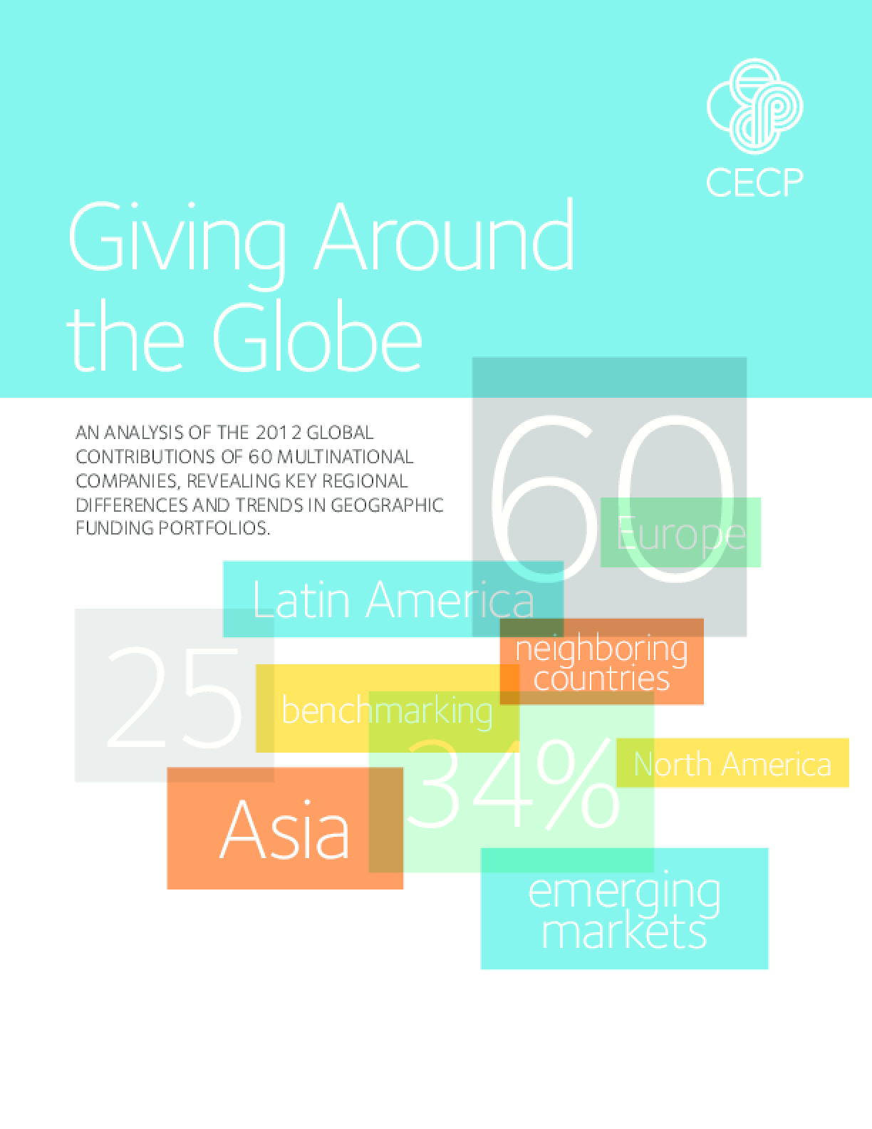 Giving Around the Globe: An Analysis of the 2013 Global Contributions of 60 Multinational Companies, Revealing Key Regional Differences and Trends in Geographic Funding Portfolios