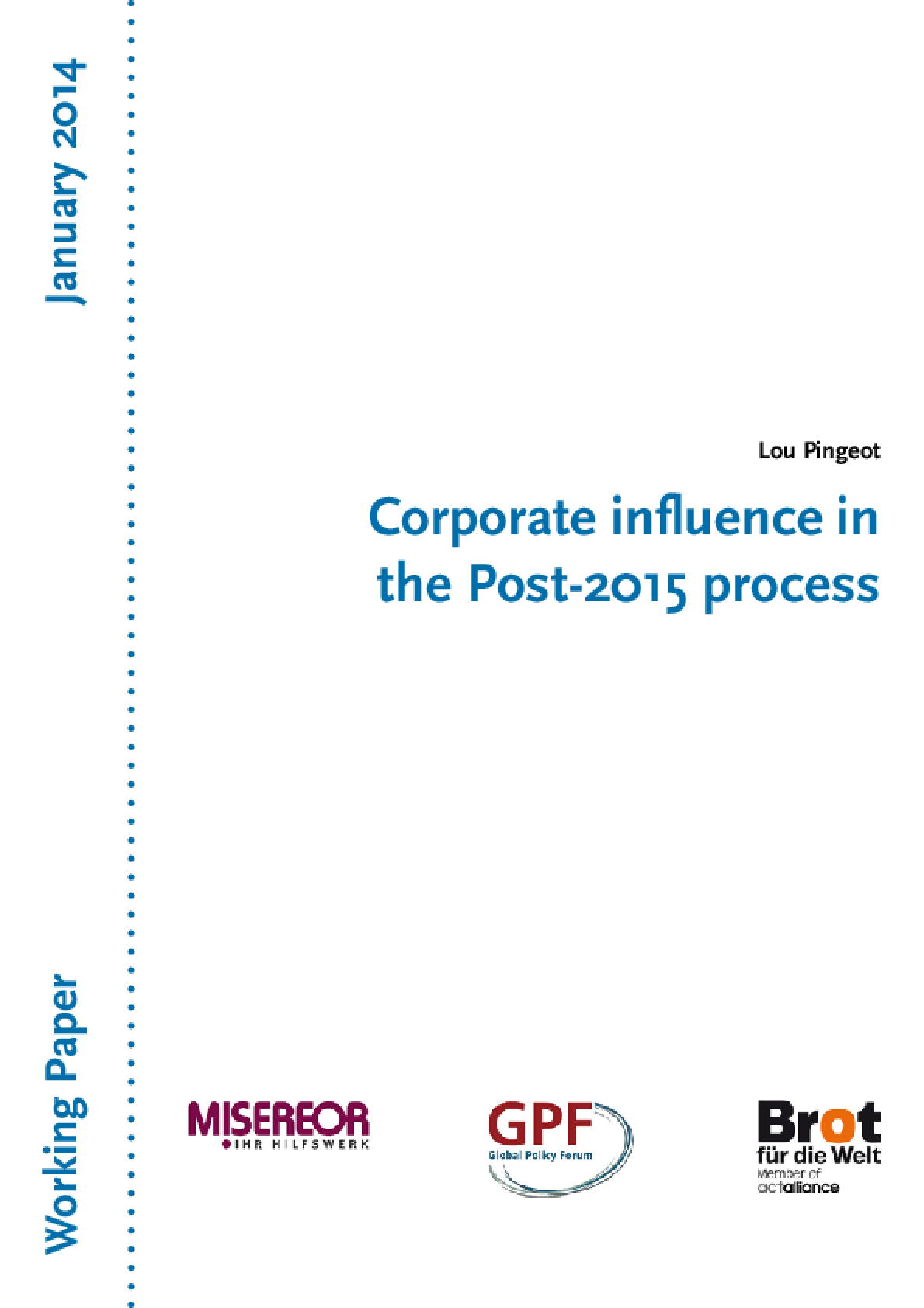 Corporate Influence in the Post-2015 Process